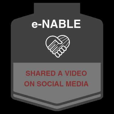 e-NABLE Video Shared on Social Media